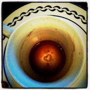 tasse café coeur